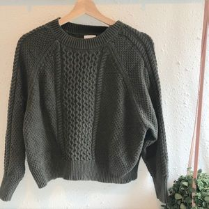 BP (Nordstrom) Olive Cable Sweater